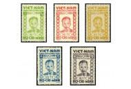 """Bộ tem """"Kỷ niệm lần thứ nhất Cách mạng tháng Tám và ngày thành lập nước Việt Nam Dân chủ cộng hòa"""""""