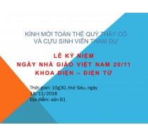 Lễ kỷ niệm ngày nhà giáo Việt Nam 20-11-2016