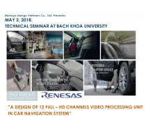 TECHNICAL SEMINAR AT BACH KHOA UNIVERSITY, May 2, 2018