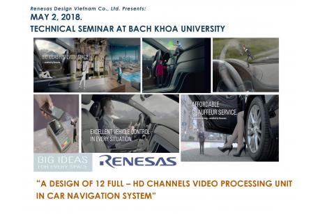 TECHNICAL SEMINAR AT BACH KHOA UNIVERSITY, 2 May 2018