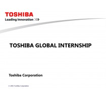 Toshiba Global Internship